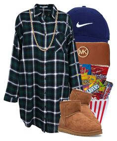 """chill "" by society-is-ugly ❤ liked on Polyvore featuring Nike Golf, Michael Kors, UGG Australia, Givenchy, women's clothing, women's fashion, women, female, woman and misses"
