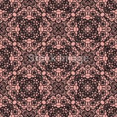 Lace black seamless pattern with flowers