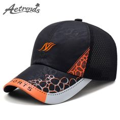 75eb2b4173283 Men s Breathable Summer Mesh Polo Baseball Caps