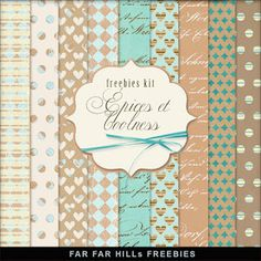 New Freebies Kit of Backgrounds - Épices et Coolness (Far Far Hill)