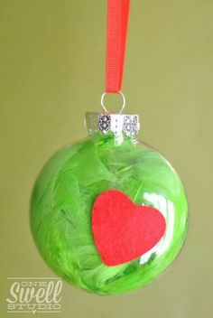 Homemade Grinch Ornament