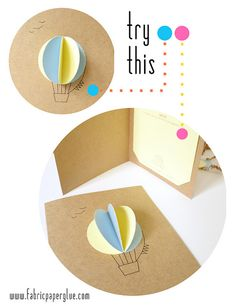 Fabric Paper Glue: Try This: Hot Air Balloon Baby Shower Invitations Oooh. I like this!