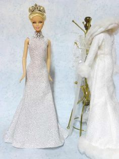 barbie - mistress of ice - free patterns for dress and coat