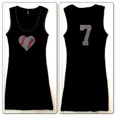 Hey, I found this really awesome Etsy listing at https://www.etsy.com/listing/154156749/rhinestone-baseball-mom-heart-tank-with