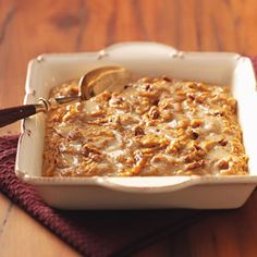 Sweet Potato Casserole Recipes from Taste of Home, including Sweet Potato Praline Swirl Recipe