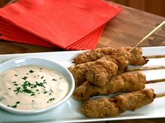 Chicken Fried Steak on Stick with Whatsthishere Sauce