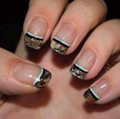 Manicure I would want to go with the camo wedding dress