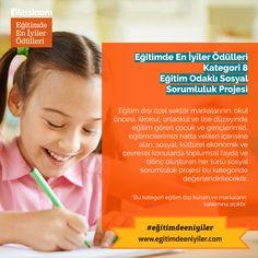 Eğitimde En İyiler Ödülleri Kurumsal Kategori 8: Eğitim Odaklı Sosyal Sorumluluk Projesi