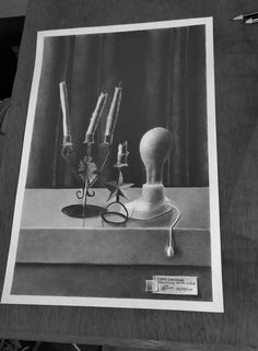 Loadshedding is a still life drawing done in graphite, size : 27.7cm x 42.2cm. If you live in South Africa, you'll understand the term loadshedding... It's basically electricity restrictions...but everything is back to normal now (thank God🙏)... Those were the candles and light I used whenever the lights would go out... Still Life Drawing, Graphite, South Africa, Original Art, Shed, Candles, Lights, The Originals, Live