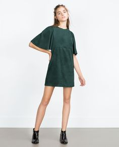 FAUX SUEDE DRESS-View all-Dresses-WOMAN   ZARA United States