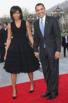 Barack and Michelle Obama PDA