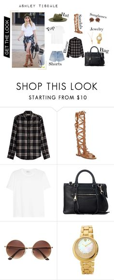 """Get the Look: Ashley Tisdale"" by animal-lover-01 on Polyvore featuring Madewell, Valentino, Sigerson Morrison, Yves Saint Laurent, Rebecca Minkoff, Versace and Jacquie Aiche"