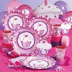 """Girl's Lil' Cupcake 2nd Birthday"" - Birthday Express, http://www.birthdayexpress.com/Girls-Lil-Cupcake-2nd-Birthday-Party-Supplies/50901/PartyKitDetail.aspx"