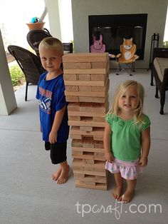 giant jenga.... this would be a great bbq game!