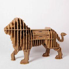 León de madera dibujan cuadro 162 * 100 * 54 muebles para el hogar muebles café MDF