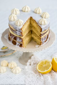 Gin, Passionfruit and Lemon Layer Cake – a dreamily soft sponge cake than can be thrown together in a food processor.