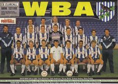WBA 90/91 West Bromwich Albion Fc, Back Row, Team Photos, Club, England, Football, In This Moment, Times, Baseball Cards