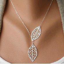 X348 Nova moda ouro oco folhas folhas charme feminino jóias, colar de pingente…