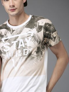 Buy Moda Rapido Men White Printed Round Neck T Shirt - Tshirts for Men 2221335 | Myntra