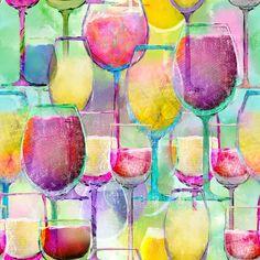 0 50m Wein Weinglaser Weinglas Glas Glaser Regenbogen