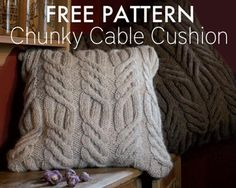 Dress up the home with this free pillow pattern.  There's nothing like knit cables to help add a homemade touch to your home's decor.