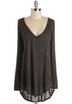 Casual You Need Top in Brown. Complete your cool and comfortable look with this long-sleeved brown top! #brown #modcloth