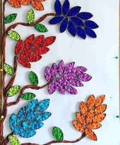 Arts And Crafts Ideas For Adults Info: 7534366794 Toilet Paper Roll Art, Rolled Paper Art, Toilet Paper Roll Crafts, Arts And Crafts For Teens, Art For Kids, Crafts For Kids, Leaf Crafts, Flower Crafts, Diy Crafts