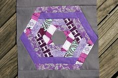 I LOVE this!!  The combination of Hexagons and Purple is great!