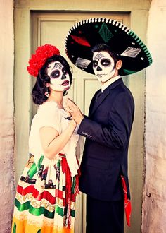 Dia de los Muertos  Pinup Model Tania Fonseca & Victor Hernandez