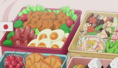 Food in Anime Aesthetic Food, Aesthetic Anime, Sailor Moon Birthday, Anime Bento, Real Food Recipes, Yummy Food, Bento Recipes, Natsume Yuujinchou, Food Wallpaper