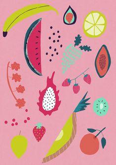 Tropical Fruit Giclee Print