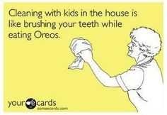 cleaning with kids...