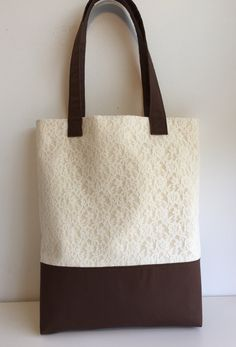 Lace tote bag by ARPCreations on Etsy
