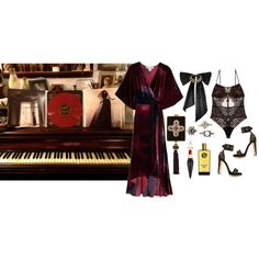 No (un)rest for the wicked by ghoulnextdoor on Polyvore featuring Alexander McQueen, Diamond Star and Oscar de la Renta