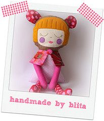Pink Goldilocks (blita) Tags: doll sewing softie rag ragdoll bonecodepano bonecosdepano