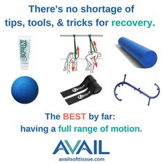 Whether you're recovering from an injury or trying to get the most out of a workout; having full range of motion is the most important step.  If mobility tools could fix a problem, pain would be very rare.