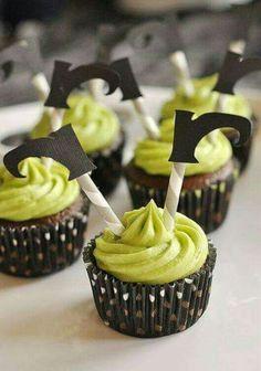 Cupcake pernas de bruxa