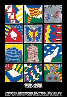 Niklaus Troxler, 1973 - Ad Poster Niklaus Troxler