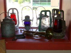 vintage lanterns | Some antique railroad lanterns - Railroad antiques & memorabilia ...