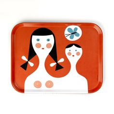 Mother & Child tray: Vitra got its start in the 1950s manufacturing work by Charles and Ray Eames and George Nelson. These days, the Swiss furniture company is an authoritative resource for world-class design. This Mother And Child Tray pays homage to the notion held by George Nelson, the Eameses, and Alexander Girard that small things determine our connection to our homes. Its playful print typifies the designers' signature graphic language and approach to interiors.