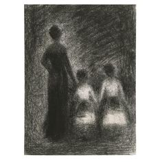 by Georges Seurat.  His drawings are the most beautiful in existence !!