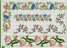 flores barrados - Ponto Cruz Lindos