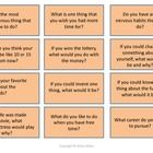 Just a simple game for conversation! How to play? Green Conversation Starter cards – elementary Orange Conversation Starter cards – middle and hig...