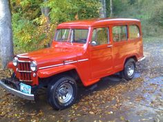 1955 Willys Jeep Utility Wagon. This was built before i was born.Why can't they make vehicles like this today.