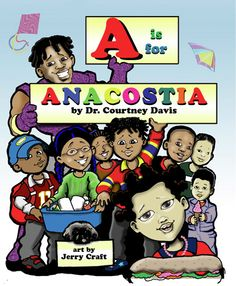 """""""A is for Anacostia"""" by Dr. Courtney Davis was featured at a Room & Board children's event."""