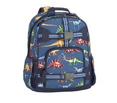 Mackenzie Blue Multicolor Dino Backpack | Pottery Barn Kids