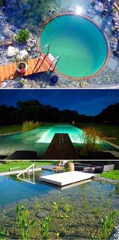 Koi Pond Around A Nice Big Gazebo To Just Hang Out And Drink Some Beer And Relax Yeah: how to make swimming pool water drinkable