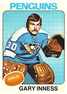 gary my old neighbour Pens Hockey, Hockey Cards, Baseball Cards, Hockey Goalie, Ice Hockey, Nhl, Lets Go Pens, Goalie Mask, Good Old Times