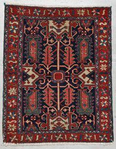 Antique Karadja Rug: 3'2'' x 4'1'' (97 x 124 cm)