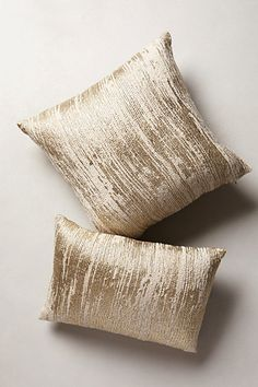 Plaited Metallics Pillow - anthropologie.com, for study window seat (or something similar)